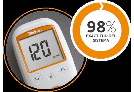iPet PRO precisión excepcional para la medición de la glucosa