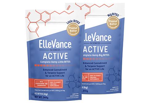 ElleVance ACTIVE COMPLETE BITES cannabinoides y terpenos de alta calidad