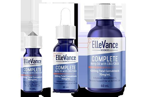 ElleVance COMPLETE RELIEF cannabinoides y terpenos de alta calidad